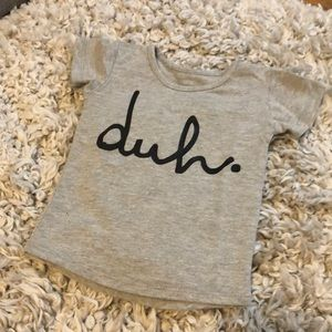 RAGS TO RACHES Grey Short Sleeve DUH Graphic Tee